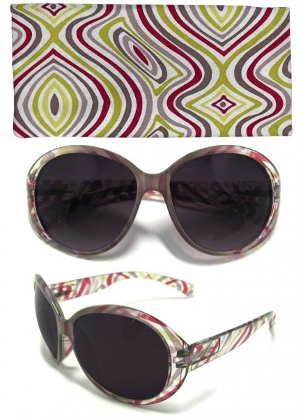 Damen-Sonnenbrille, Sonnen-Schutz mit UV-400-Schutz, Etui im passenden Design Strand-Brille