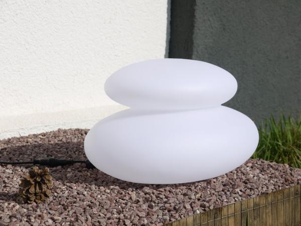 LED-Solar-Dekostein Duo Lichtobjekt Solarleuchte