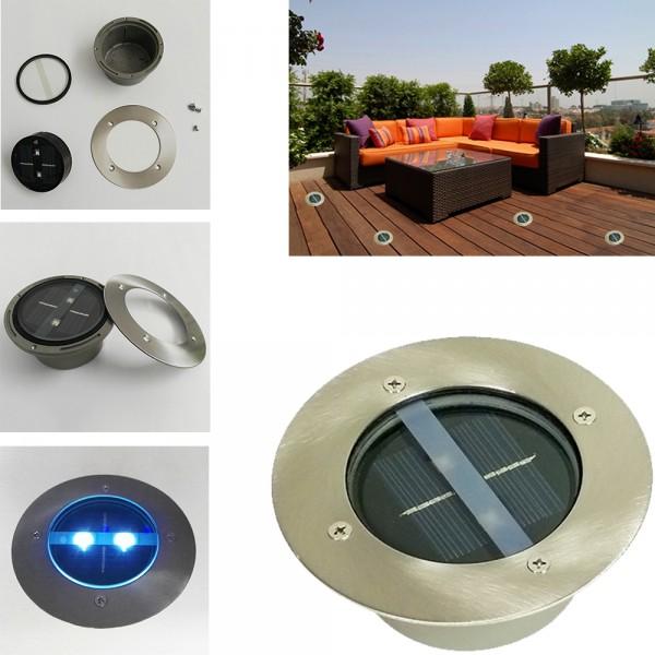 LED Solar Bodenleuchte