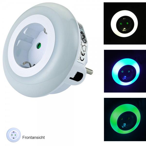 LED Nachtlicht-Steckdosen-Adapter Orientierungslicht LED-Licht mit Dämmerungssensor und Steckdose