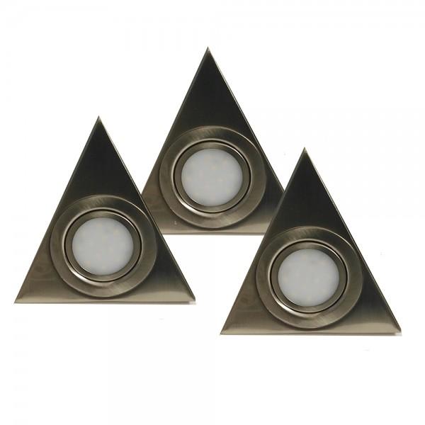 LED Aufbau-Unterbauleuchte Dreieck 3er Set Küchenleuchte