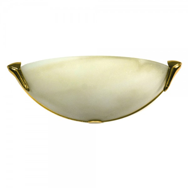 Hochwertige Glas Halogenwandleuchte STYLE mit satiniertem Glas