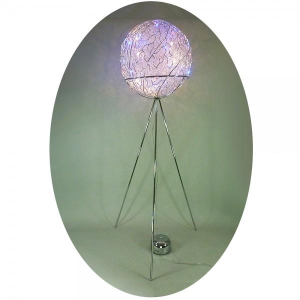 LED + Halogen Stehleuchte ALINA Kugelleuchte Standleuchte