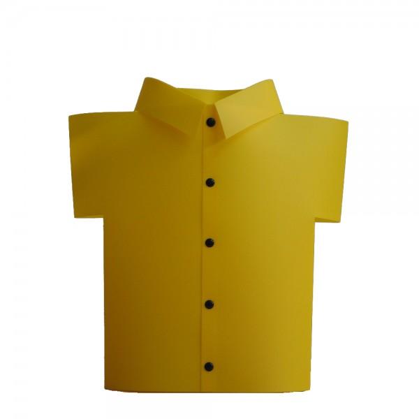 Dekoleuchte HUGO in Hemdform gelb Fenster-TischLeuchte Kinderlampe