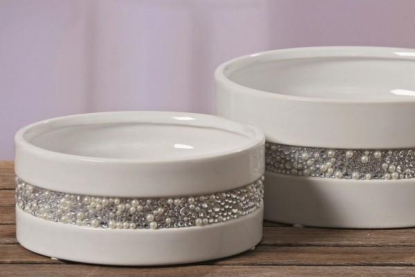 Dekorations-Schalen Set Pearl aus Steingut