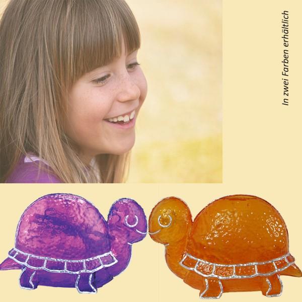 Dekorations-Leuchte Schildkröte TURTLE Fiberglas lila Tisch-Kinder-Leuchte