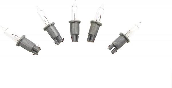 Steckbirne für Stimmungsleuchte Spitze silber / titan 0,89 W, 12,5V, (5 Stk.-Set)