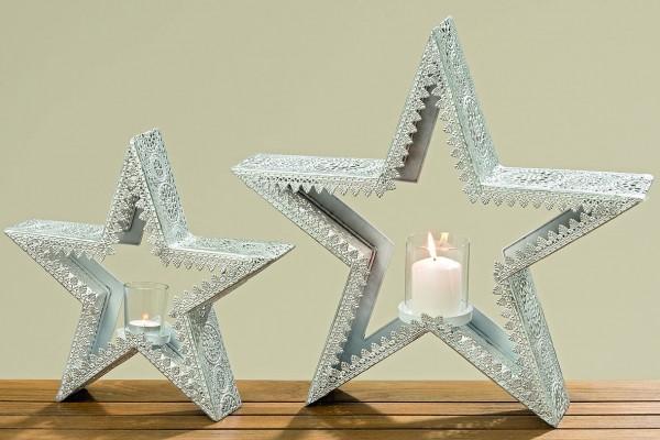 Windlicht Stern Mariana Teelichthalter Weihnachtsdeko