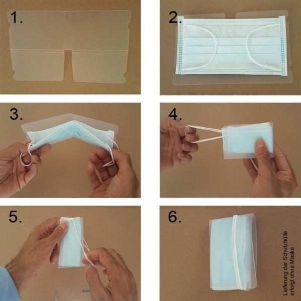 10 x faltbare Schutzhüllen, Aufbewahrungs-Etui für Gesichtsmaske