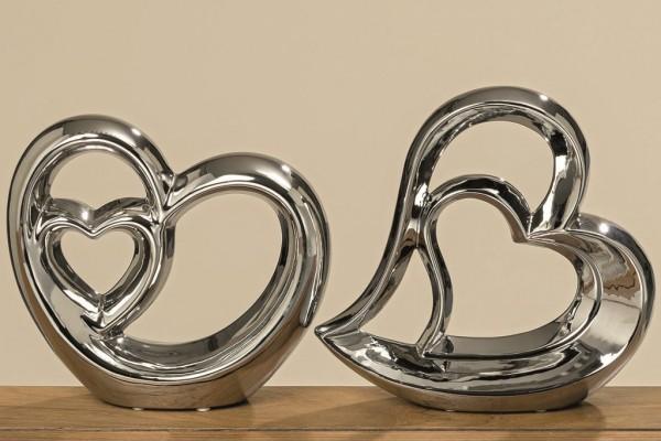 2X Deko Objekt Herz Figur Accessoires zum dekorieren