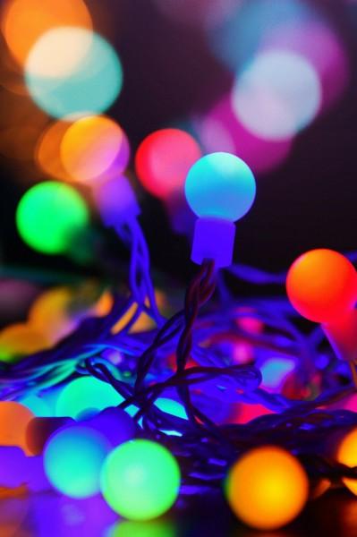 LED Lichterkette Ball Innen mit Farbwechsler