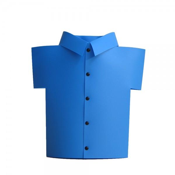 Dekoleuchte Hemd HUGO blau Fenster-Tischleuchte Kinderlampe