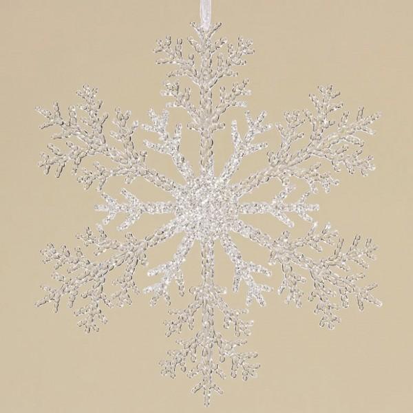 2 x Hänger Schneeflocke Winterliche Fensterdekoration Weihnachtsdeko