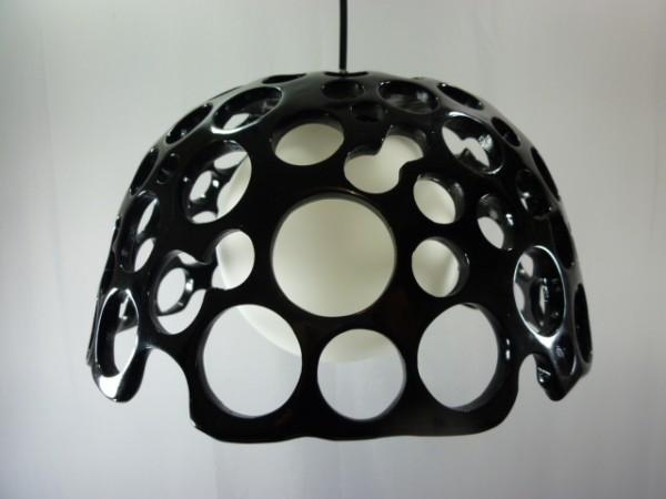 Pendelleuchte Yasu schwarz chrom-Kunststoff-Glas weiß