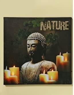 LED-Leinwandbild Buddha Wand-Deko-Objekt