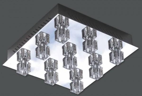 Deckenleuchte Crystal 9 flg. farbwechselnd