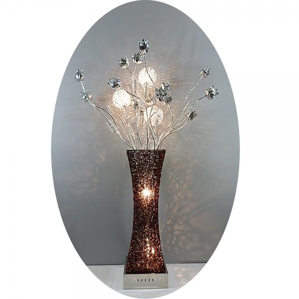 Stehleuchte Standlampe Alu-Drahtgeflecht Castanea 5 flammig Blumenleuchte