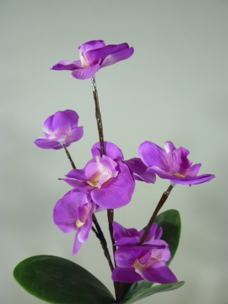 Blütenzweig ORCHIDEE beleuchtet Dekozweig Dekoleuchte Batterie betrieben