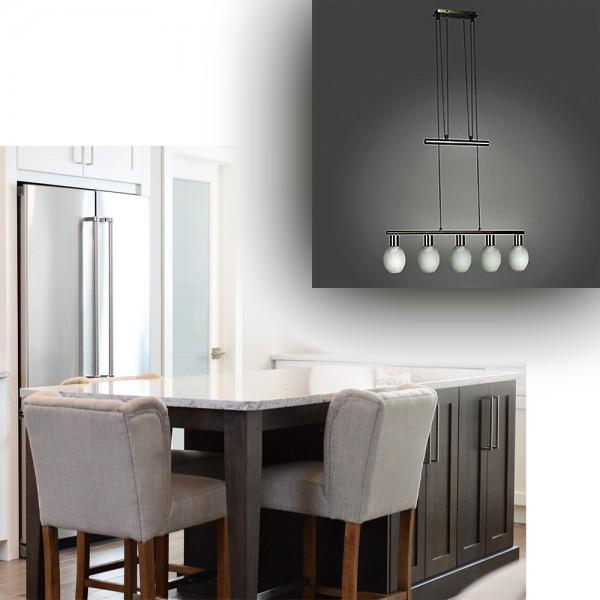 Stilvolle Glas-Pendel-Leuchte LIRA Pendelleuchte mit Gegenzug energiesparend