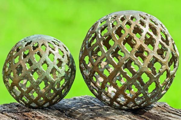 2 x Dekokugel Kugel BATHI Gartendekoration Dekoidee