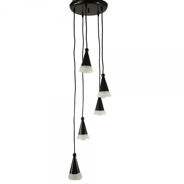 Glas-Decken-Leuchte FINO, 5-flammig Hängelampe