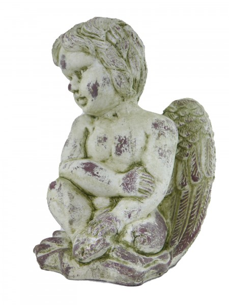 Engel aus Keramik Skulptur Dekofigur Gartendekoration Gartenfigur