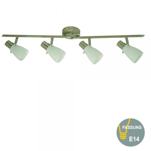 Glas-Decken-Spot-Strahler EIKO 4 flammig inklusive Energiespar Leuchtmittel