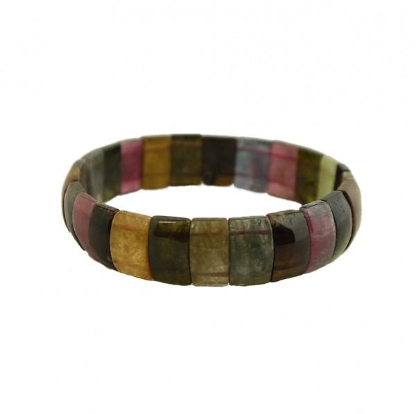 Hochwertige Natur-Steine Armband aus Turmalin Edelsteinen Armreif