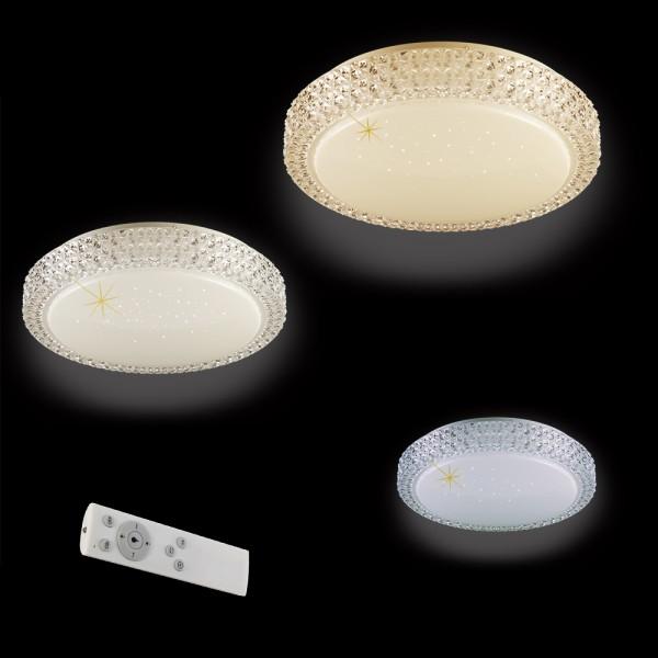 LED-Deckenleuchte KOS Sternenhimmel-Optik mit Fernbedienung Lichtfarbe wechselbar