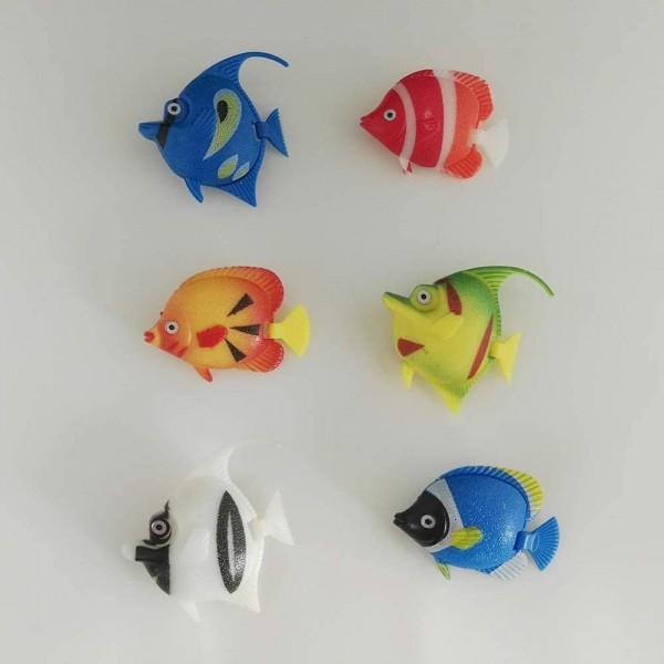 Wassersäulenzubehör Fisch-Set Bunte Fische