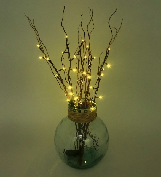 LED Lichterzweige batteriebetrieben Timer-Automatik Weidenzweige
