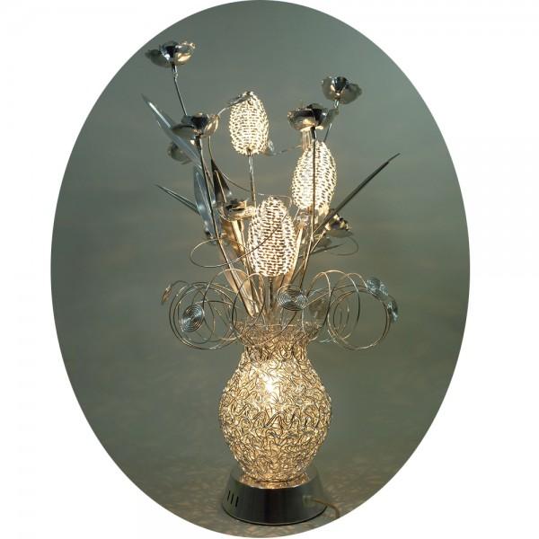 Traumhafte Blumenleuchte ORNELLA Tischleuchte Vasenleuchte
