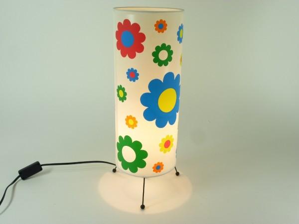 Bunte Tischleuchte Kiddi mit Blumendekor Kinderleuchte Tischlampe