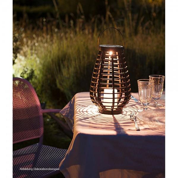 2 x LED-Solar-Garten-Leuchte-Laterne RISS