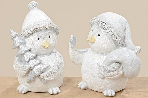 2 x Dekofiguren Vogel KAYA Dekoration Geschenk Aufsteller