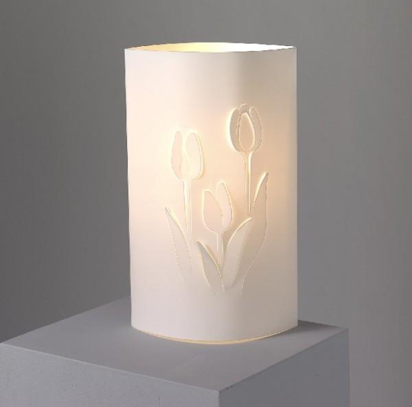 Wunderschöne Tischleuchte mit Blumenmotiv Tulpe