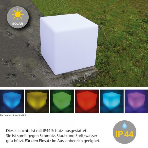 """LED Solar-Leuchte """"Mate"""" Würfel 40cm"""