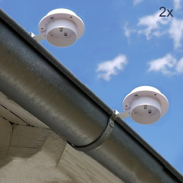 LED Solar-Dachrinnenleuchte im Set