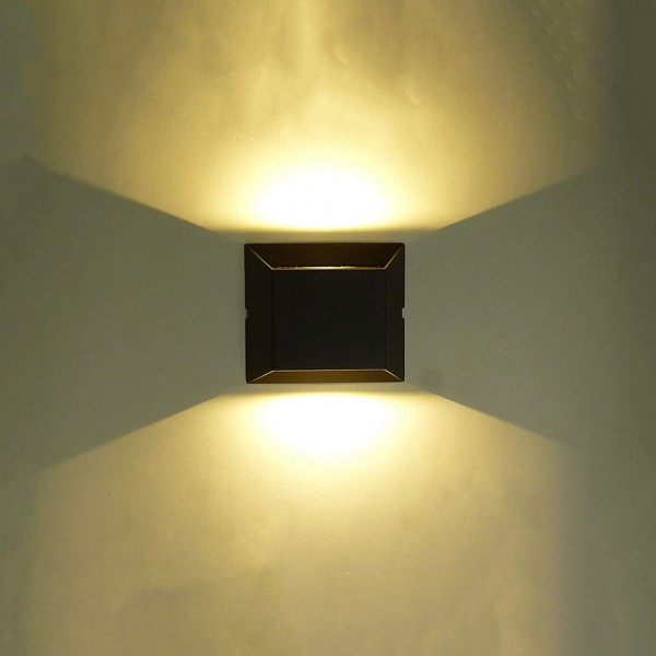 LED Aluminium Wandleuchte Turin 2 flammig