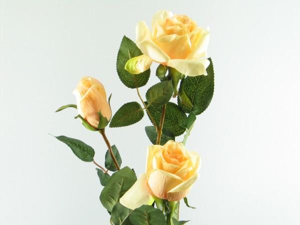 Kunstblume ROSE mit 3 Blüten