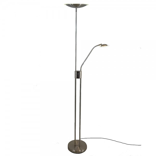 LED Stehleuchte Luam Deckenfluter mit Lesearm und Dimmfunktion