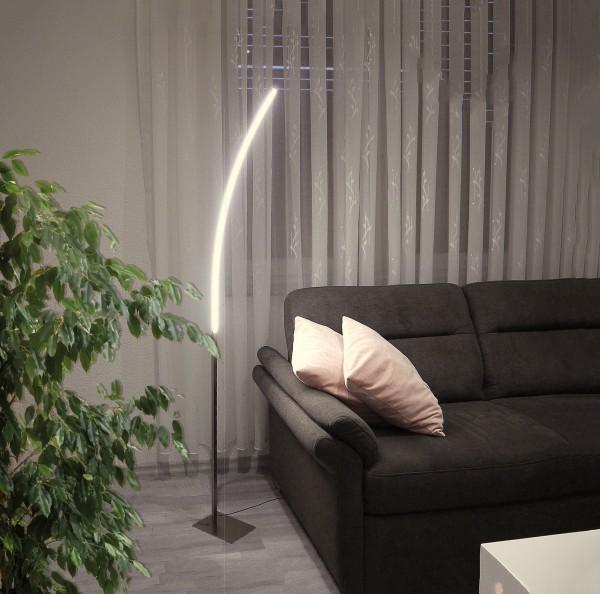 LED Stehleuchte Elina Bogen-Standlampe