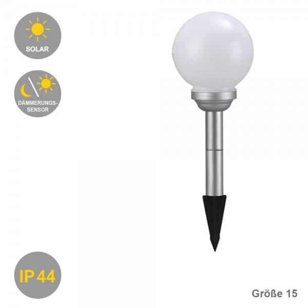 LED Solar-Kugel-Dekoleuchte OLA (je nach Auswahl Drm.15-20-25-30cm)