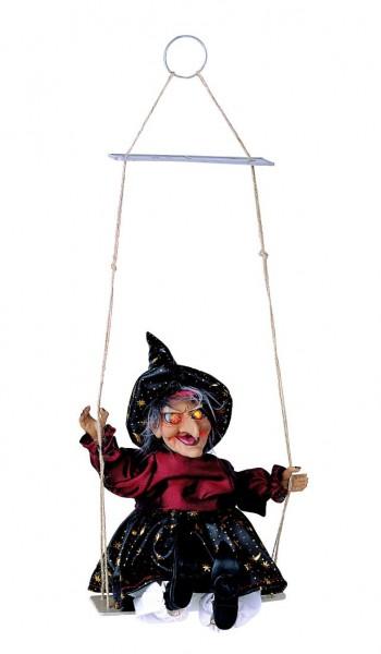 Hexe auf Schaukel beleuchtet Halloween Dekoration