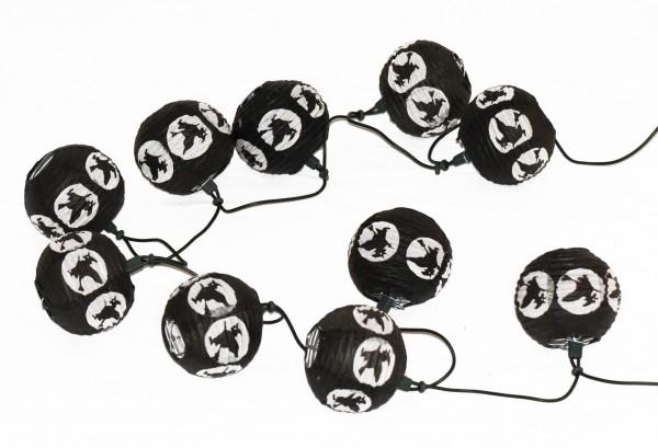Halloween-Beleuchtung Lichterkette Black Witch 10 flammig