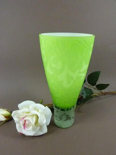 Ornament Glasvase grün Dekoration Blumenvase