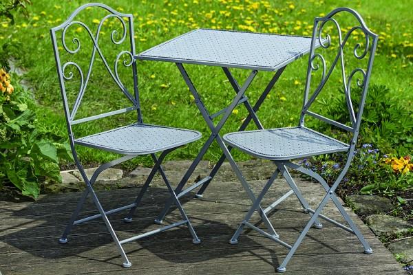 Tischset FELIA 1Tisch+2Stühle Garten-Balkon-Terassen-Möbel