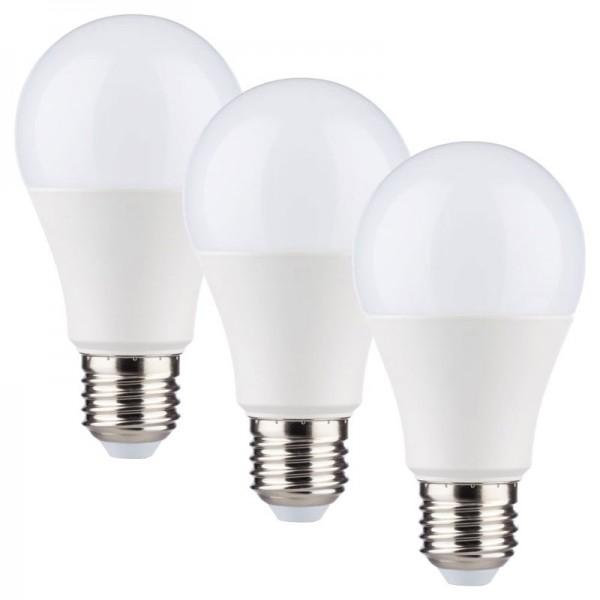 LED Leuchtmittel 7Watt Fassung E27 3er Set Birnenform