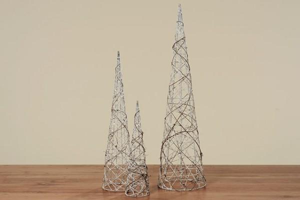 Weihnachtsdekoration Pyramide NURI im 3er Set Objekt Kegel