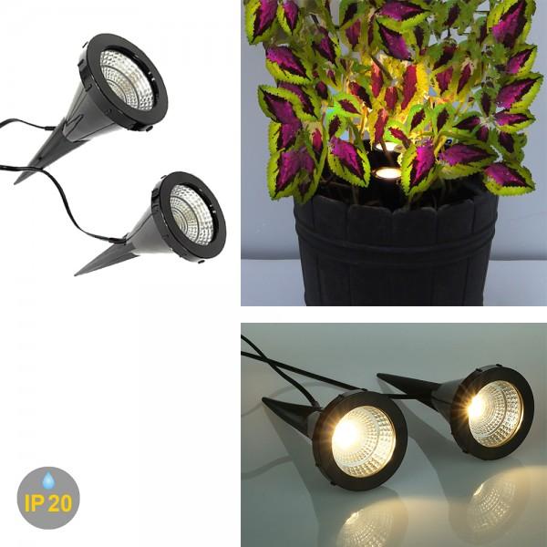 LED Pflanzenstrahler Jasmin 2er Set